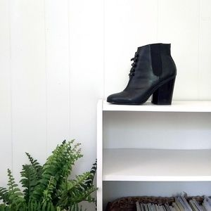 Grey City Black Ankle Boots